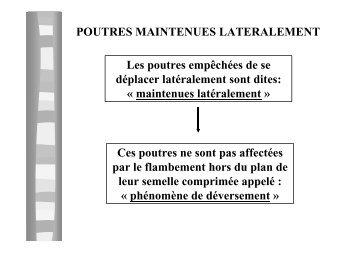 POUTRES MAINTENUES LATERALEMENT Les poutres ... - Freelem