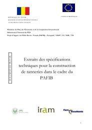 Télécharger - Projet Appui à la Filière Bovine - PAFIB