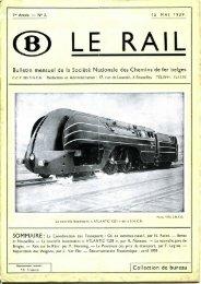 Bulletin mensuel de la Société Nationale des Chemins de fer belges ...