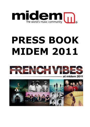 PRESS BOOK MIDEM 2011 - Juliette Villerabel