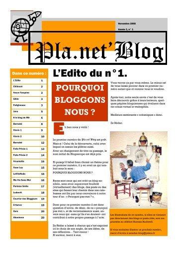 L'Edito du n°1. - Canalblog