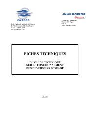 GT fiches techniques - ENGEES