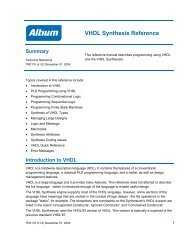 VHDL Synthesis Reference - Altium