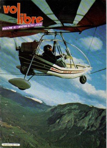 vol libre n° 84 1983 vol vers la corse
