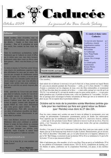 Caducée octobre 2004 - Cercle Solvay