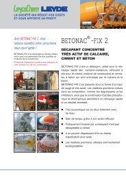 BETONAC -FIX 2 - LEYCO CHEMISCHE LEYDE GmbH