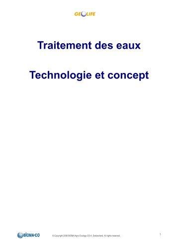 Traitement des eaux - Concept et technologie - Bioecoplus