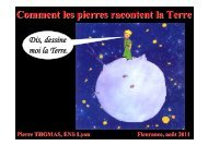 Comment les pierres racontent la Terre (2011 - Pierre THOMAS ...