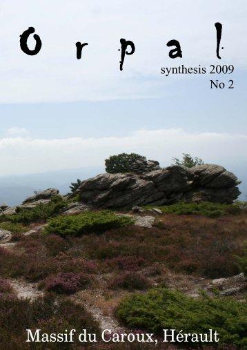 Orpal-Synthesis 2 (2009) - Département Biologie Écologie