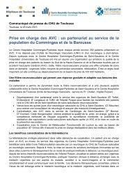 Prise en charge des AVC : un partenariat au ... - CHU Toulouse
