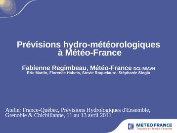 Prévision saisonnière hydrologique