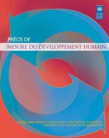 mesure du développement humain - Human Development Reports