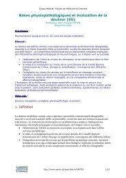Bases physiopathologiques et évaluation de la douleur (65)