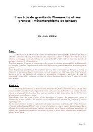 Les Grenats de FLAMANVILLE - Page perso minéraux Alain ...