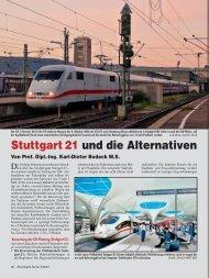 Stuttgart 21 und die Alternativen; aus EK 5/2007 - Eisenbahn-Kurier