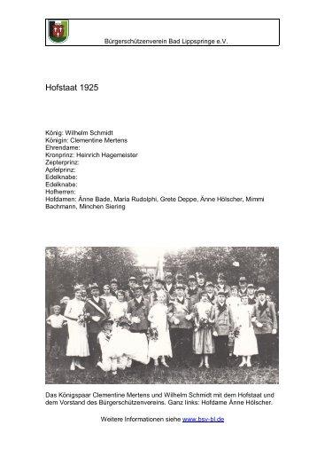 Hofstaat 1925