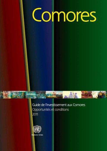 Guide de l'investissement aux Comores Opportunités et ... - Unctad