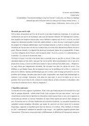 Le savoir, sans la fatalité - Ecole de Psychanalyse des Forums du ...