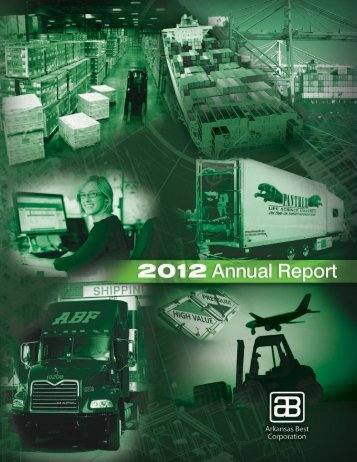 Arkansas Best Corporation 2012 Annual Report - IR Solutions