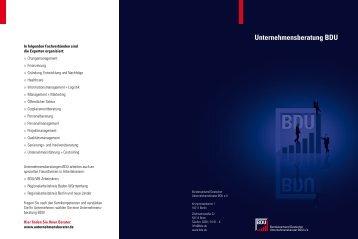 Unternehmensberatung BDU - 3e Unternehmensberatung