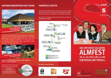 ALMFEST - Ferienregion Nationalpark Hohe Tauern GmbH