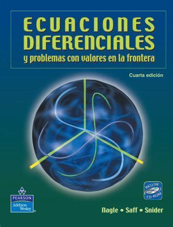 Ecuaciones diferenciales y problemas con valores +libro