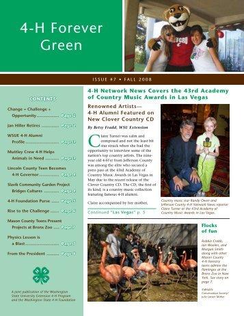 4-H Forever Green - 4-H Youth Development Program - Washington ...