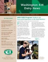Washington 4-H Dairy News - 4-H Youth Development Program ...