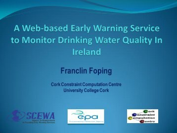 A Web-based Early Warning Service to Monitor Drinking Water ...
