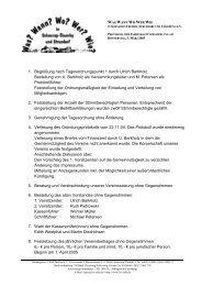 1. Begrüßung nach Tagesordnungspunkt 1 durch Ulrich Barkholz ...