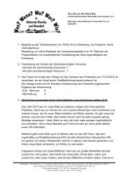 Protokoll der Jahreshauptversammlung 2011 - Schnarup-Thumby ...