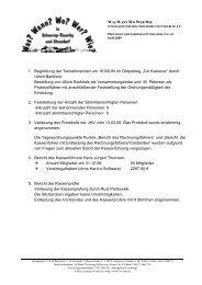 Protokoll der Jahreshauptversammlung 2009 - Wann? Wo? Wer ...