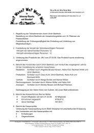 Protokoll der Jahreshauptversammlung 2007 - Schnarup-Thumby ...