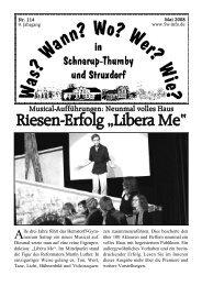 "Riesen-Erfolg ""Libera Me"" - Schnarup-Thumby, Struxdorf"