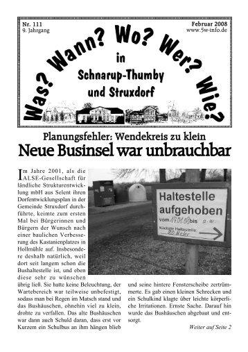 Februar 2008 - Wann? Wo? Wer? Wie? in Schnarup-Thumby