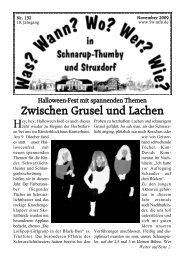 November 2009 - Wann? Wo? Wer? Wie? in Schnarup-Thumby