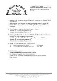 Protokoll der Jahreshauptversammlung 2010 - Schnarup-Thumby ...