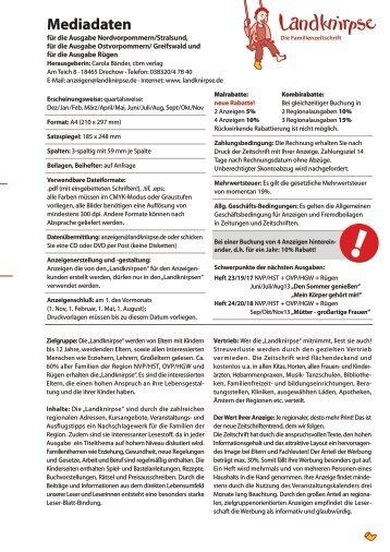 Mediadaten Print als pdf-Datei zum Download - Landknirpse