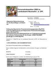 Personalratswahlen 2006 im Landratsamt Neumarkt i. d. OPf.