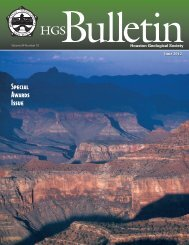 June 2012 Bulletin - Houston Geological Society