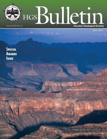 June 2012 Bulletin - Houston Geological Society