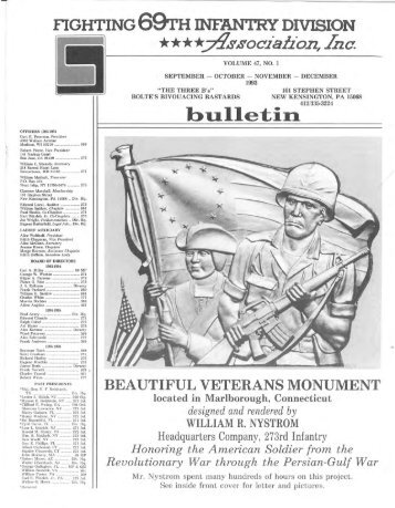 The Fighting 69th Infantry Division Association, Inc. Vol. 47 No. 1 ...