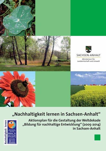 Nachhaltigkeit lernen in Sachsen-Anhalt - Bildung für nachhaltige ...