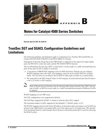 Notes for Catalyst 4500 Series Switches