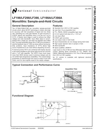 LF198/LF298/LF398, LF198A/LF398A Monolithic Sample-and-Hold ...