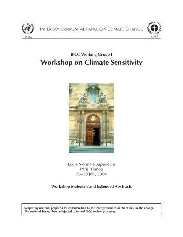 Workshop on Climate Sensitivity - Index of