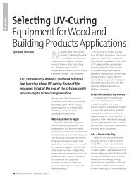 Selecting UV-Curing Equipment for Wood and Building Products ...