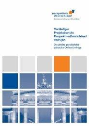 Projektbericht Perspektive-Deutschland