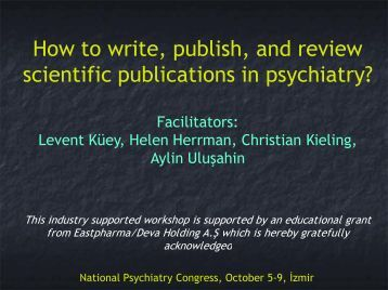 How to write, publish, and r scientific publications in psyc o write ...