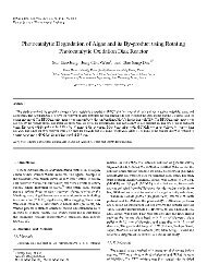 Photocatalytic Degradation of Algae and its By-product using ...